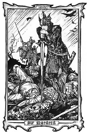 Sir Mordred by H. J. Ford, from King Arthur- The Tales of the Round Table by Andrew Lang, 1902.jpg
