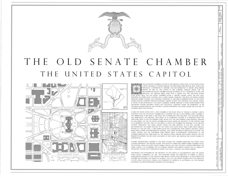 File:Site Plan and Map - U.S. Capitol, Old Senate Chamber ...
