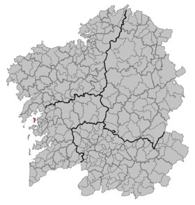 Location of A Illa de ArousaVigo