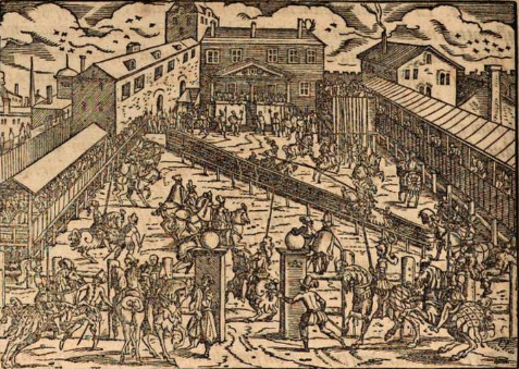 Skanderbeg and other students in Enderun receiving military training