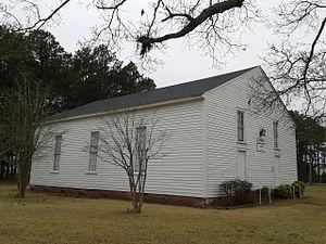 Skewarkey Primitive Baptist Church - Skewarkey Primitive Baptist Church seen in March, 2015