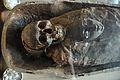 Skull and Mask - Egyptian Human Mummy - Egyptian Gallery - Indian Museum - Kolkata 2014-04-04 4430.JPG