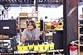 Smiling moog worker, Moog Music factory.jpg