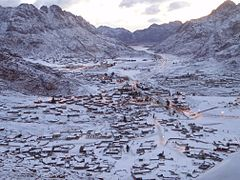 Snow in St. Katherine, Sinai Egypt - March 1, 2009.jpg