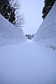 Snow walls along the road, Kitayama, Ojiya, Niigata, Japan.jpg