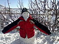 Snowman Himachal Pradesh India February 2012.jpg
