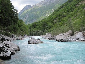 Soča - The Soča near Bovec