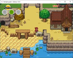 Screenshot of Solarus Sample quest running on Windows