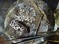 Soldering silver hoops.JPG