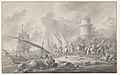 Soldiers Loading Barges for a Large Sailing Ship Along the Coast MET DP860030.jpg