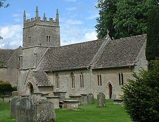 Somerford Keynes village in United Kingdom