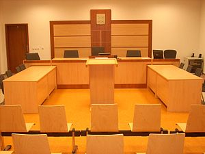 Judiciary of the Czech Republic - Courtroom at district court