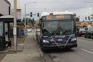 Washington State Route 522 - Image: Sound Transit route 522 on Lake City Way