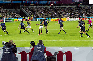 2015 Rugby World Cup - South Africa beat the USA 64–0 at the Olympic Stadium in London.