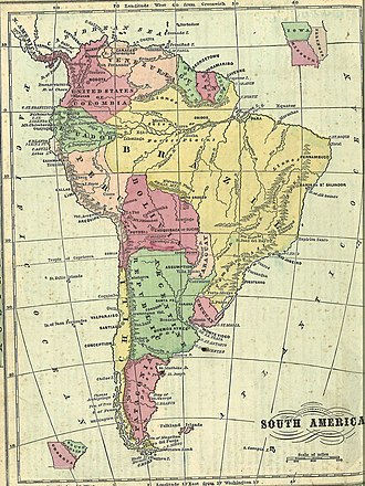 Beagle Channel cartography since 1881 - Image: South America