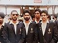 South Asian games, Captain with Syamkumar, P Biju, Sebastian.jpg