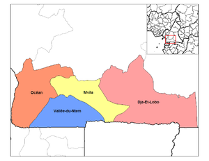 South Region (Cameroon) - Divisions of South province