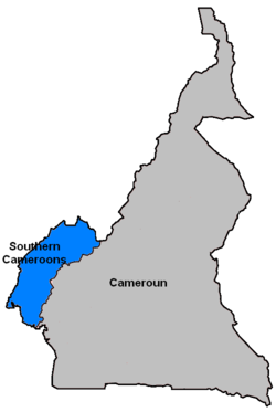 Camerún do Sur - agora as provincias noroccidental e sudooccidental de Camerún
