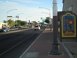 South Tucson from city limits at 6th Avenue