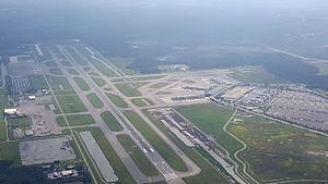 Southwest Florida International Airport - An overhead view of Southwest Florida International Airport