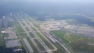 Southwest Florida International Airport - An overhead view of Southwest Florida International Airport