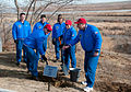 Soyuz TMA-15M crew and backup crew during the tree planting ceremony.jpg