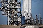 SpaceX Falcon Heavy on Pad 39A — Closeup Bottom (26280680598).jpg