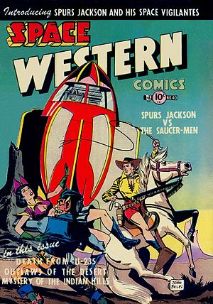 Space Western - Early space Western print media