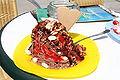 Spaghettieis Schokolade mit Nüssen 001.JPG
