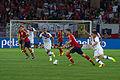 Spain - Chile - 10-09-2013 - Geneva - Xavier Hernandez, Marcos Gonzalez, Arturo Vidal and Pedro Rodriguez.jpg