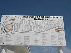 Welcome sign in Spanish Wells