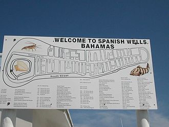 Spanish Wells - Welcome sign in Spanish Wells