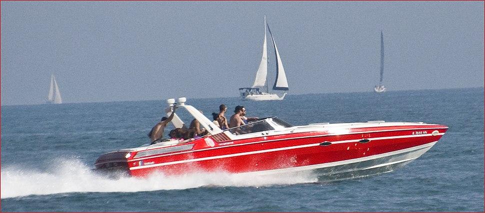 Speedboat on Lake Michigan in Chicago