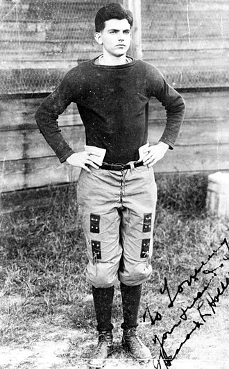 Spessard Holland - Holland as a football player at Emory.