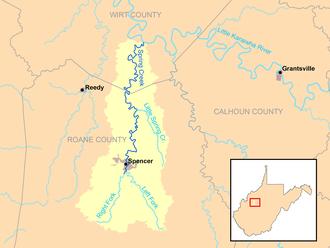 Spring Creek (Little Kanawha River) - Image: Spring Creek Little Kanawha River map