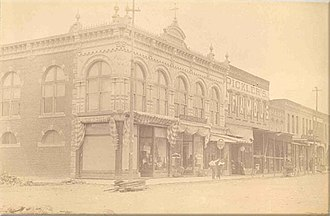 Kirksville Courthouse Square Historic District - Pickler's Famous Store (second from left), 1893