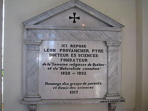 Léon Abel Provancher - Funeral monument for Léon Provancher, Cap-Rouge