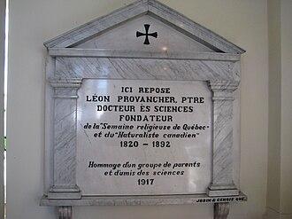 Léon Abel Provancher - Funeral monument for Léon Provancher, Cap-Rouge