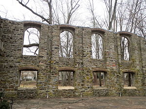 St. Charles College (Maryland) - Ruins of the 1906 recreation hall