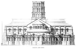 Basilica of Saint-Sernin, Toulouse - East end elevation of the basilica.