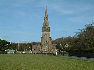 Little Crosby village in the Metropolitan Borough of Sefton, in Merseyside, England