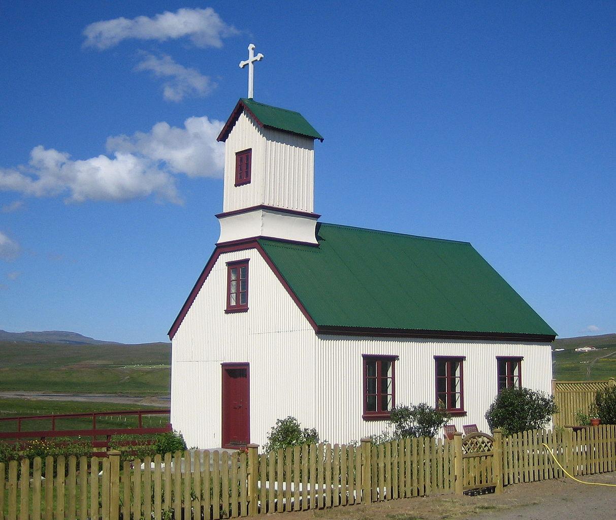 Sebuah gereja di barat laut Islandia
