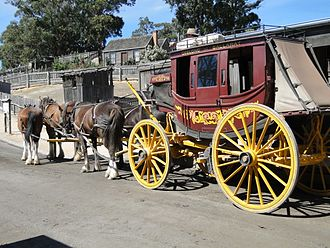 Cobb & Co - A replica concord coach at Sovereign Hill, Ballarat