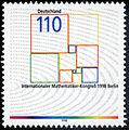 Stamp Germany 1998 MiNr2005 Internationaler Mathematiker-Kongress.jpg
