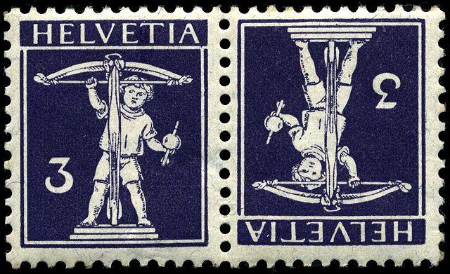 Postage Chart: Stamp Switzerland 1910 10c tb pair.jpg - Wikipedia,Chart