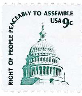 Americana series - 9 cents on white paper, 1977