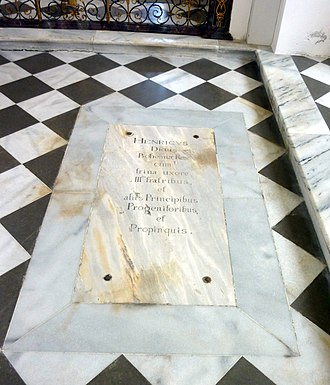 Henry of Bohemia - Tomb slab in Stams Abbey