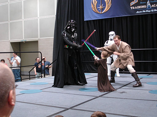 Star Wars Celebration IV - Jedi training versus Darth Vader! (4878887932)