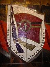 Blason de la Stasi.