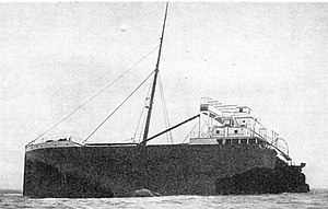 SS Suevic - The original bow of Suevic was left on the rocks.